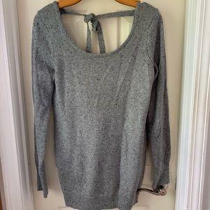 Tie back maternity sweater